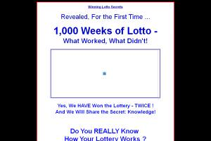 1,000 Weeks Of Lotto